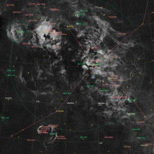 CygnusRegion-2017-11-16_H_35x12x300sec_v2anno (Cygnus Region – Super-Wide-Field Mosaic)